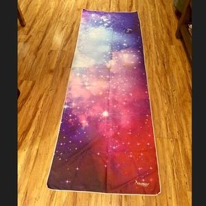 Yourself Space Galaxy Patterned Yoga Towel